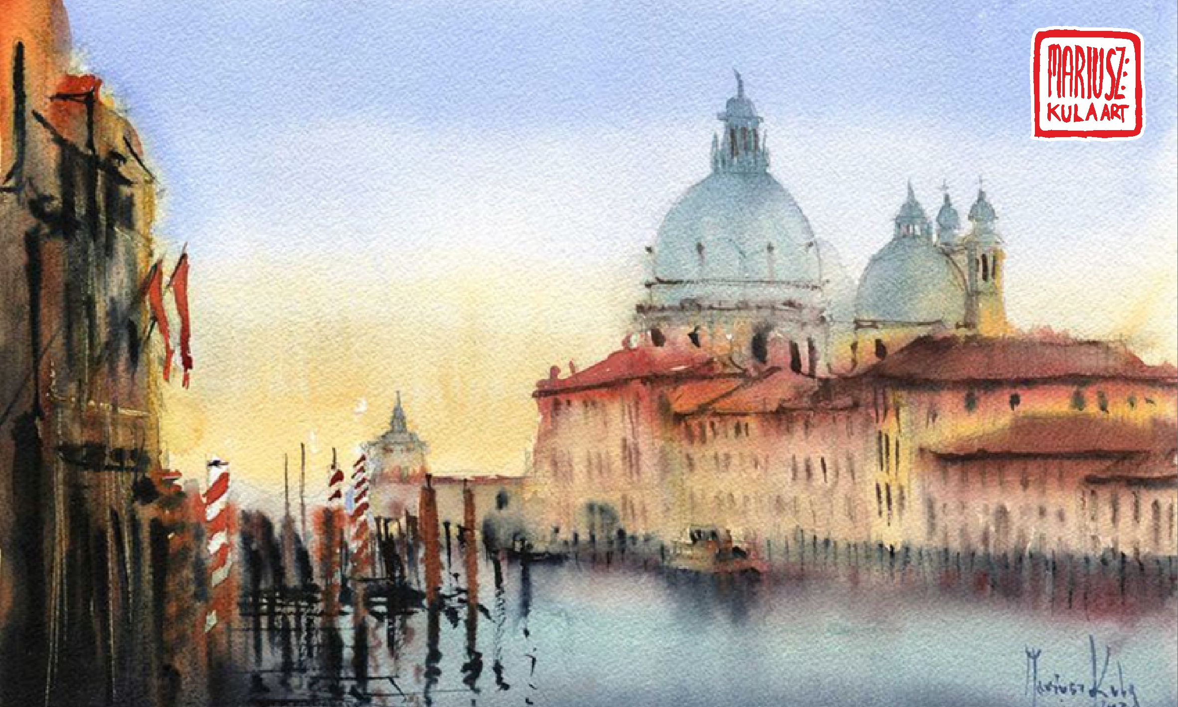 Wenecja – proces powstawania akwarel